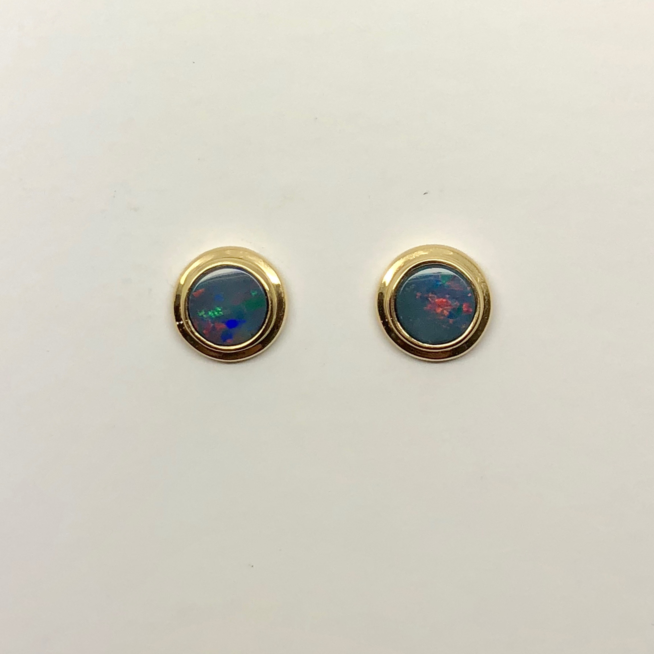 earrings with drop set star pslow featuring coloured opal doublet red products oval elegant opals black gold multi bezel