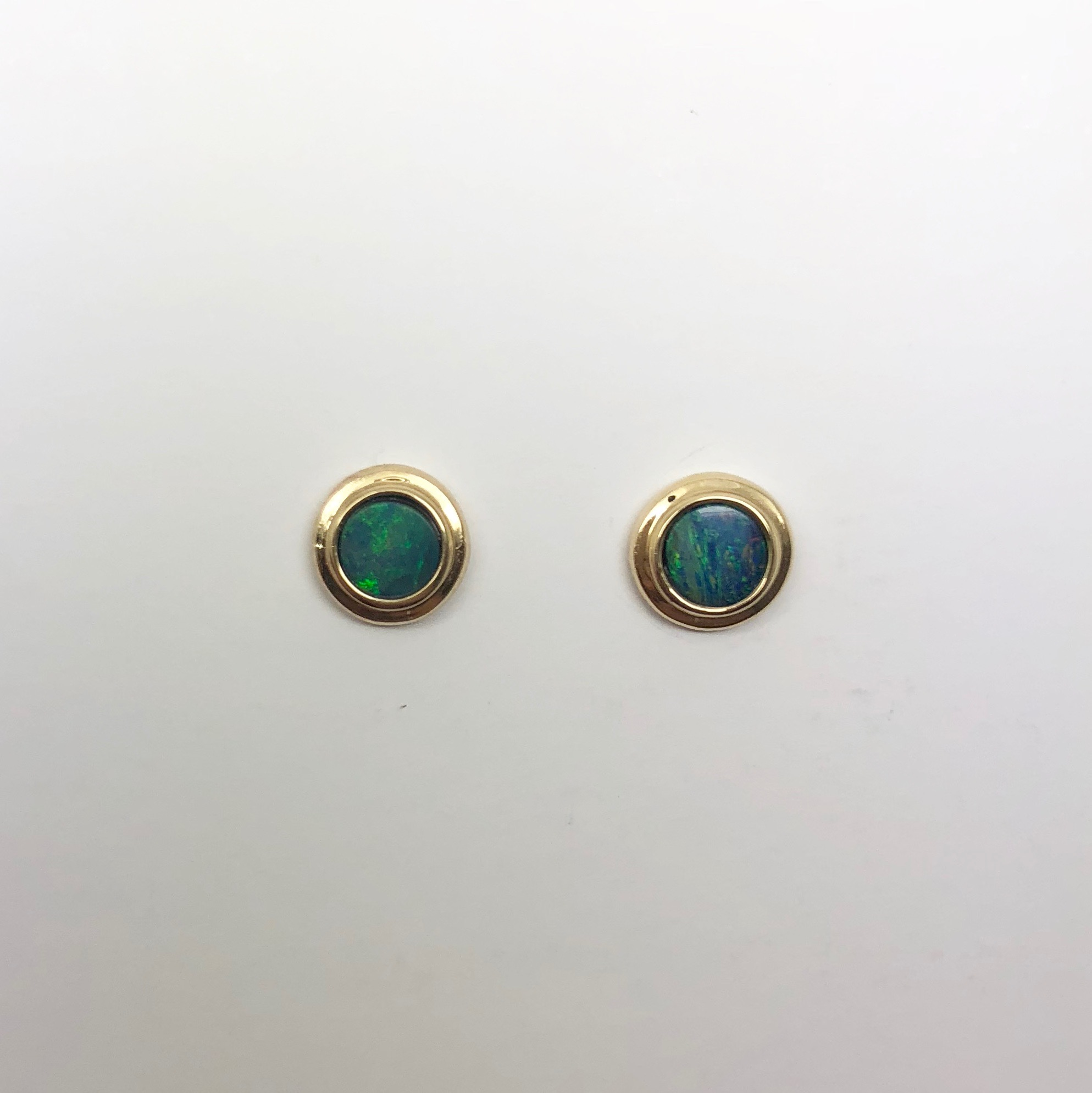 9ct Gold Doublet Opal Earrings